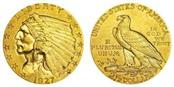 UNITED STATES Gold Coin 1908 INDIAN HEAD 2-1/2 GOLD COIN